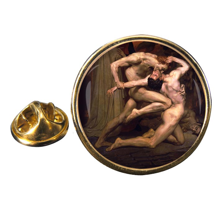 Dante and virgil by Bouguereau Pin Badge