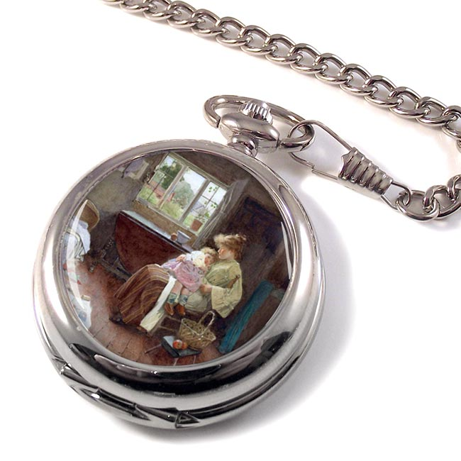 A Quiet Moment by Calton Alfred Smith Pocket Watch