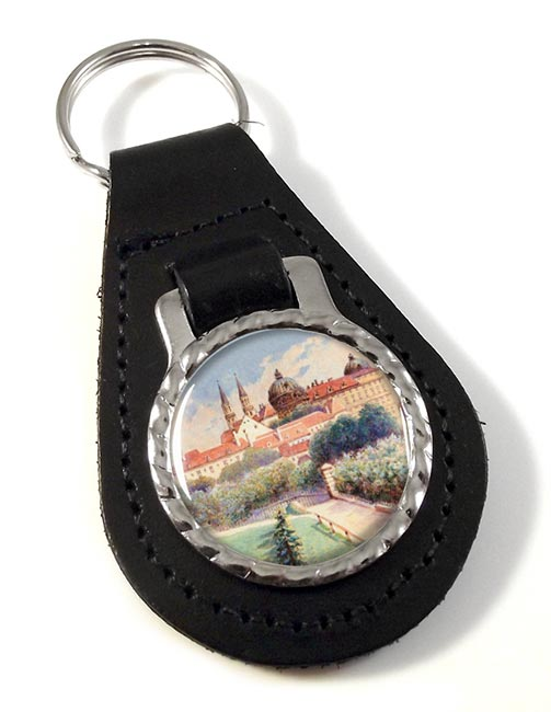 A Painting by Adolf Hitler Leather Keyfob