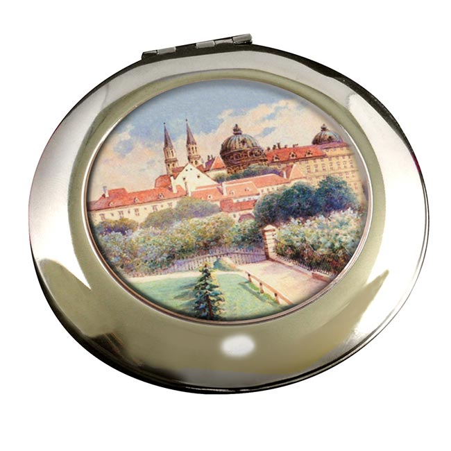 A Painting by Adolf Hitler Round Mirror