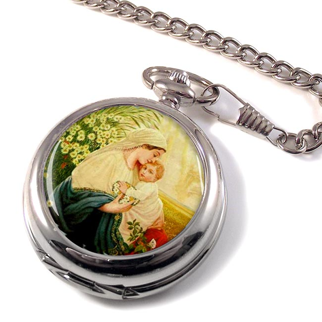Mother Mary by Adolf Hitler Pocket Watch