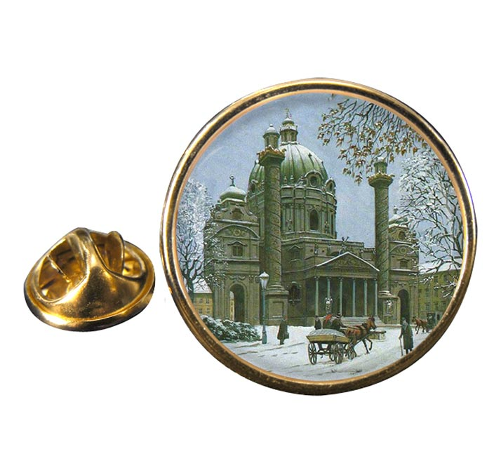 A Building in Austria by Adolf Hitler Pin Badge