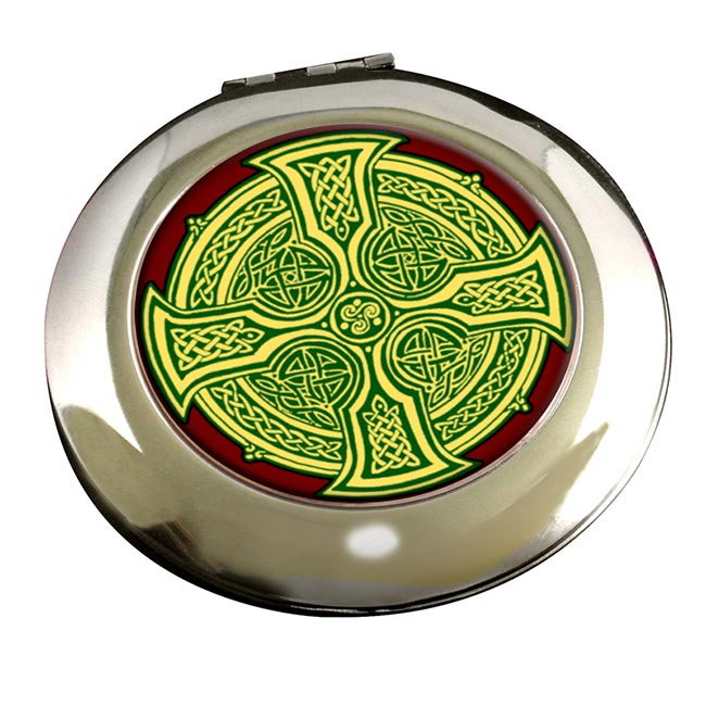 Irish Celtic Cross Round Mirror