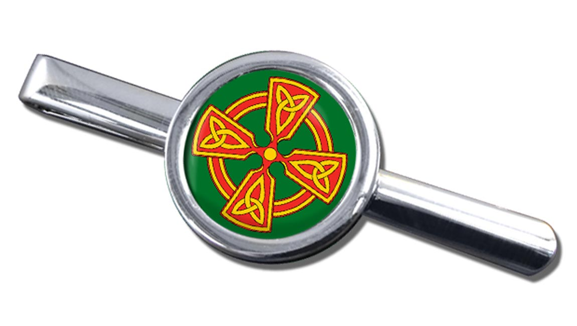 Welsh Celtic Cross Round Tie Clip