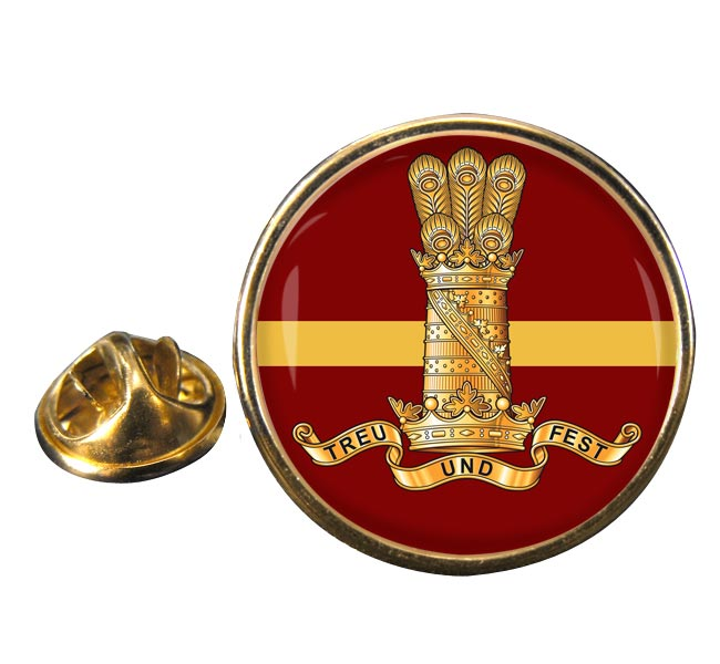 11th Hussars (Prince Alberts Own) (British Army) Round Pin Badge