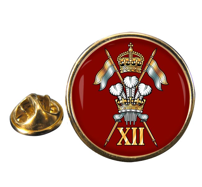 12th Royal Lancers (British Army) Round Pin Badge