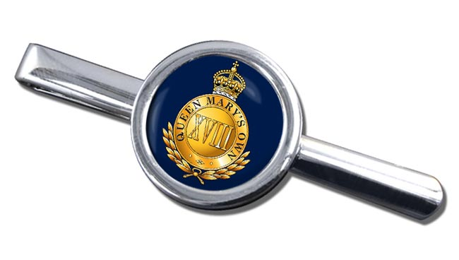 18th Royal Hussars (Queen Mary's Own) British Army Round Tie Clip