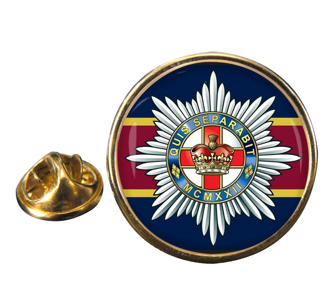 4th-7th Royal Dragoon Guards (British Army) Round Pin Badge