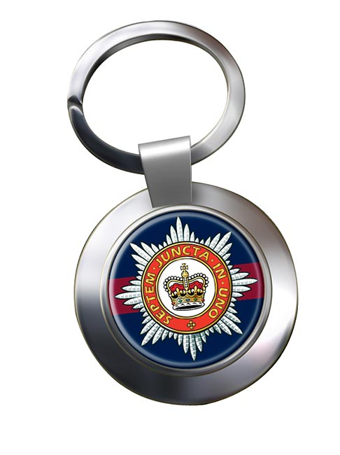The Household Division (British Army) Chrome Key Ring