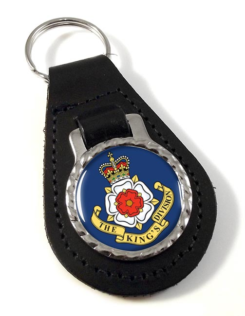 The King's Division (British Army) Leather Key Fob