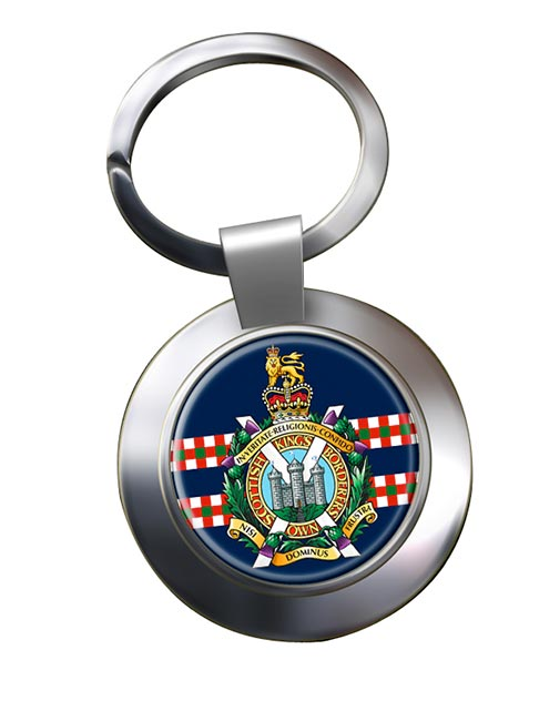 King's Own Scottish Borderers (British Army) Chrome Key Ring
