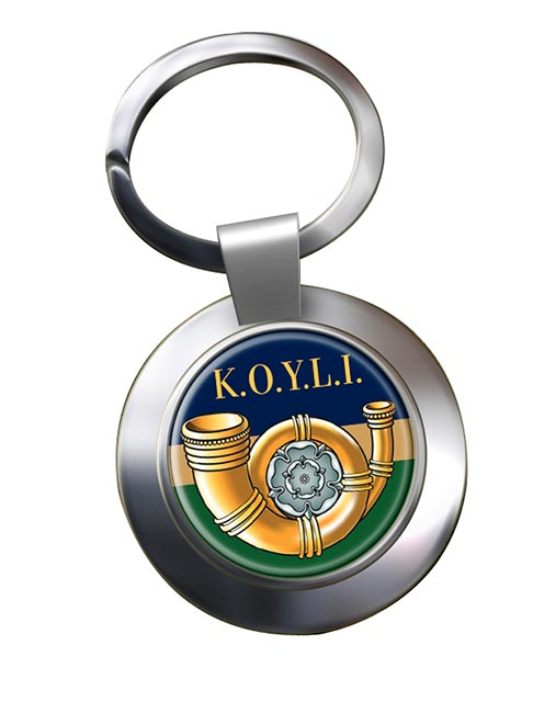 King's Own Yorkshire Light Infantry (British Army) Chrome Key Ring