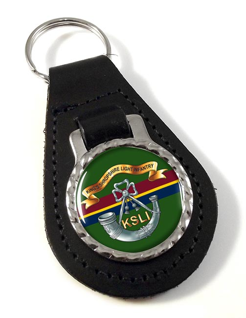 King's Shropshire Light Infantry (British Army) Leather Key Fob