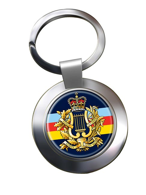 Corps of Army Music (British Army) Chrome Key Ring