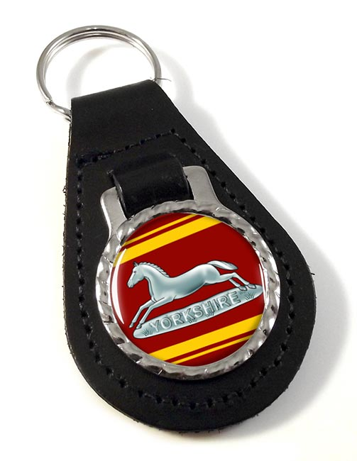Prince of Wales's Own Regiment (British Army) of Yorkshire Leather Key Fob