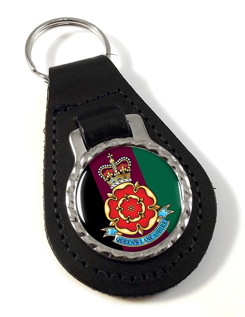 Queen's Lancashire Regiment Leather Key Fob