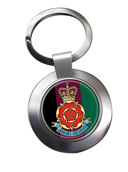 Queen's Lancashire Regiment (British Army) Chrome Key Ring