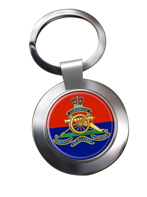 Royal Artillery (British Army) Chrome Key Ring