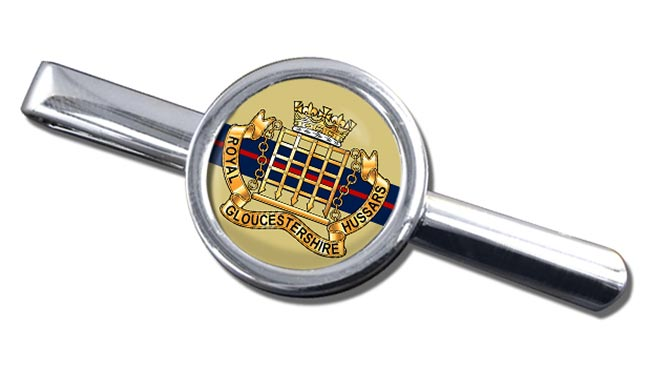 Royal Gloucestershire Hussars (British Army) Round Tie Clip