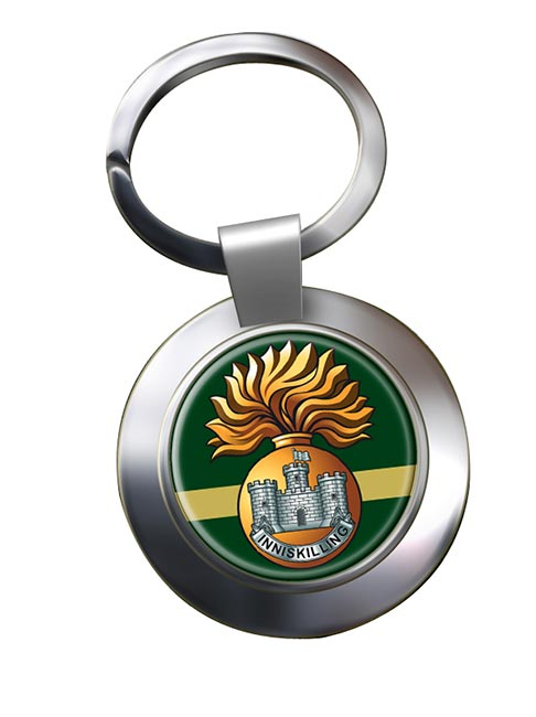 Royal Inniskilling Fusiliers (British Army) Chrome Key Ring