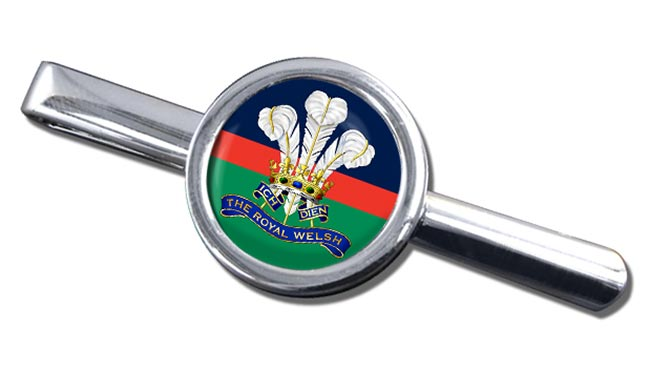 Royal Welsh (British Army) Round Tie Clip