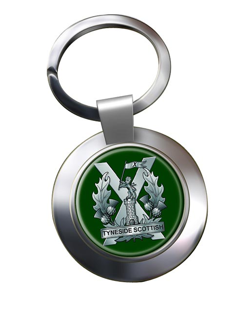 Tyneside Scottish Regiment (British Army) Chrome Key Ring
