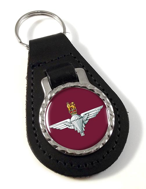 Parachute Regiment (British Army) Leather Key Fob