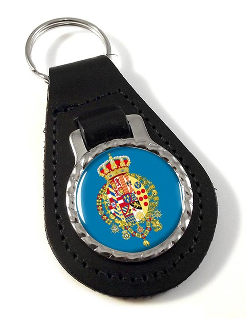 Regno delle Due Sicilie (Italy) Leather Key Fob
