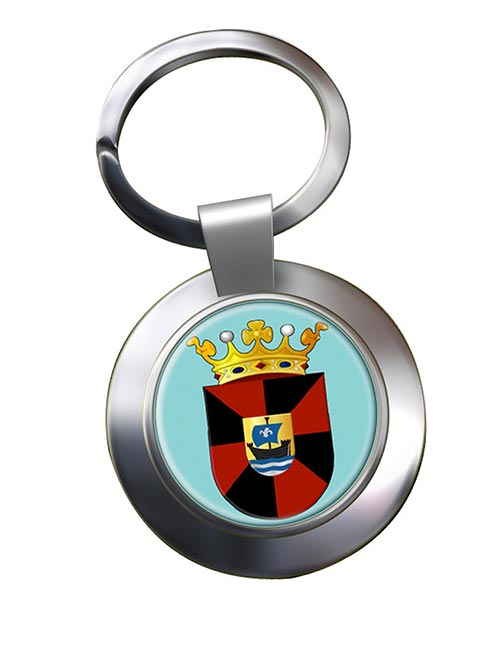 Almere (Netherlands) Metal Key Ring