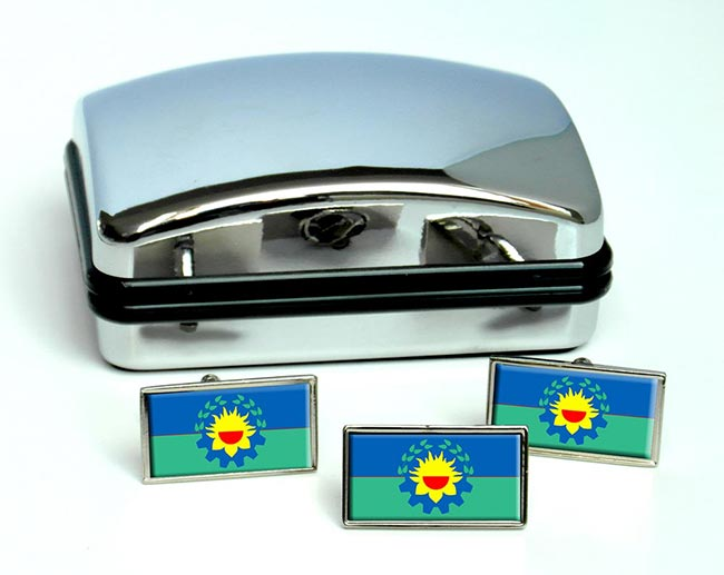Argentine Buenos Aires Province Flag Cufflink and Tie Pin Set