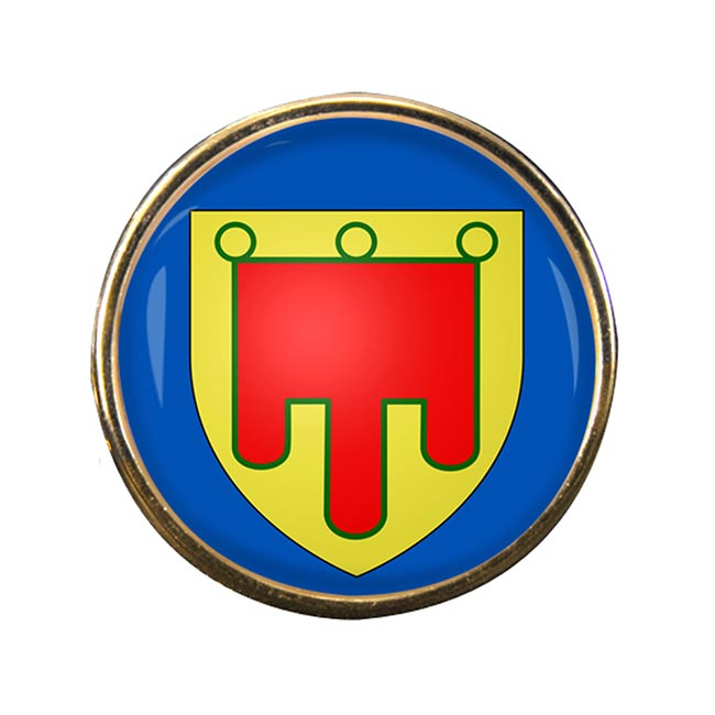Auvergne (France) Round Pin Badge