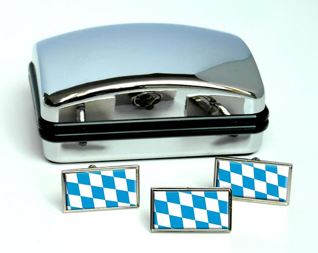 Bayern Bavaria (Germany) Flag Cufflink and Tie Pin Set