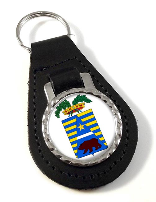 Biella (Italy) Leather Key Fob