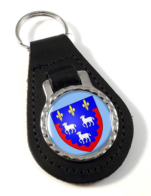 Bourges (France) Leather Key Fob