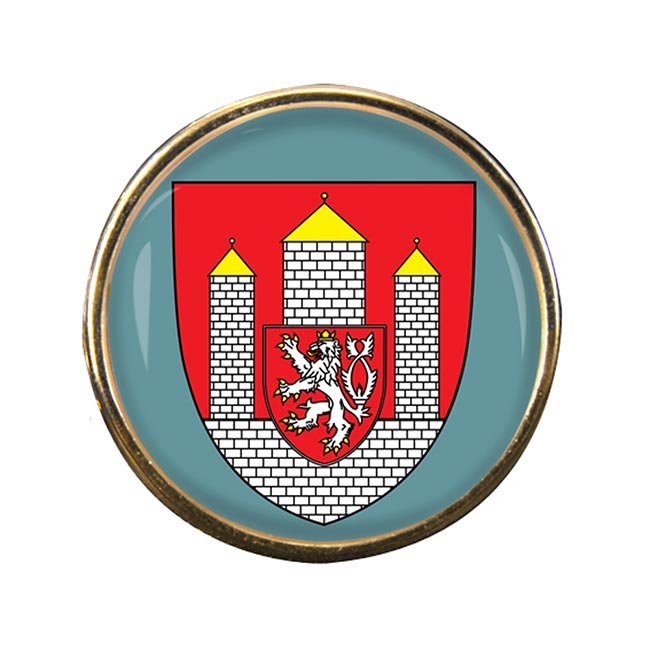 Ceske Budejovice Round Pin Badge