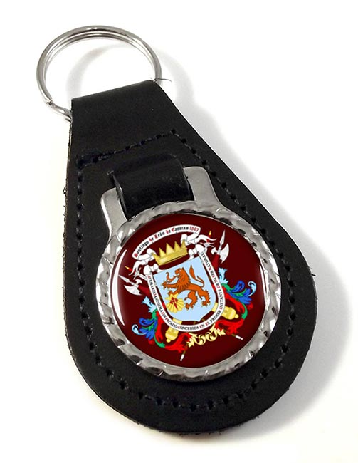 Caracas (Venezuela) Leather Key Fob
