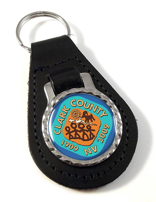 Clark County NV )) Leather Key Fob