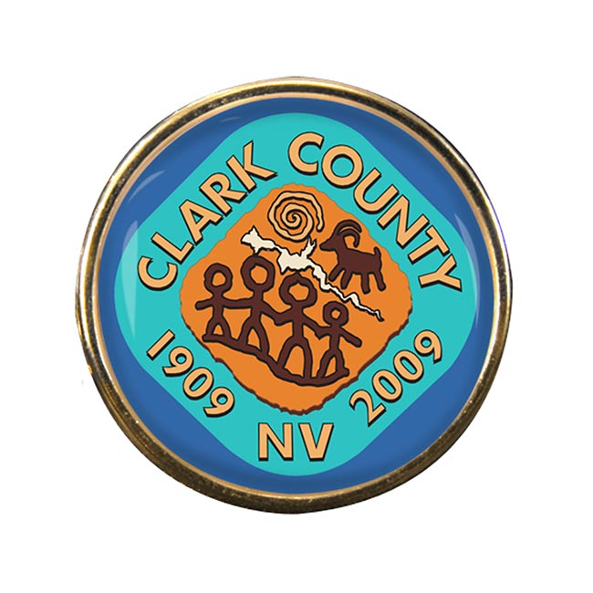 Clark County NV )) Round Pin Badge