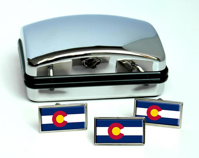 Colorado  Flag Cufflink and Tie Pin Set