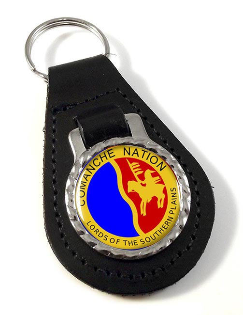 Comanche Nation (Tribe) Leather Key Fob