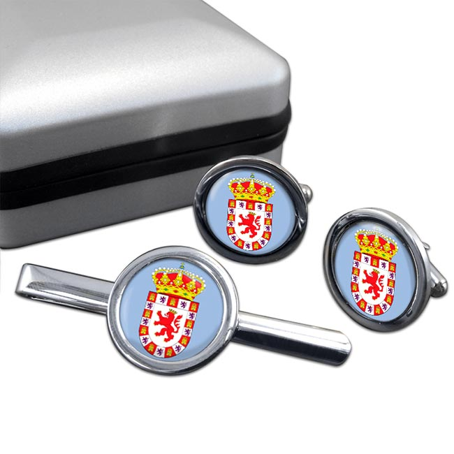 Cordoba Ciudad (Spain) Round Cufflink and Tie Clip Set