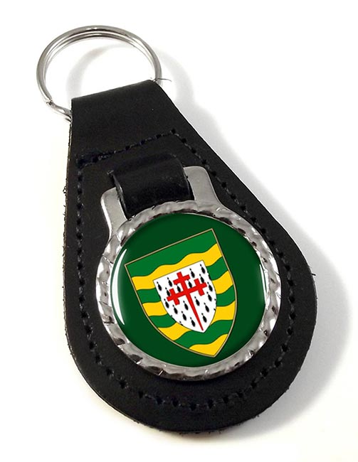 County Donegal (Ireland) Leather Key Fob