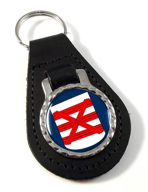 Enschede (Netherlands) Leather Key Fob