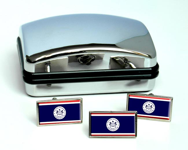 Erie PA  Flag Cufflink and Tie Pin Set