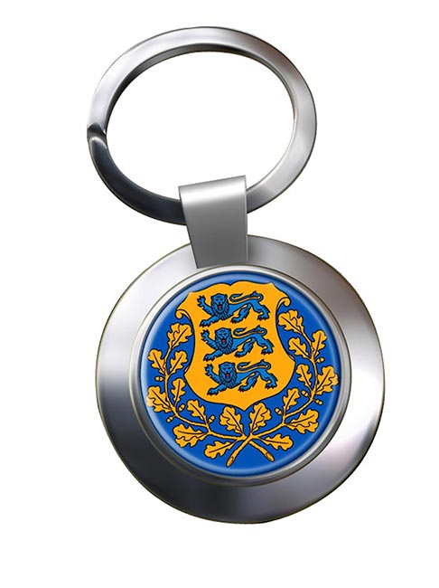 Estonia Eesti Metal Key Ring