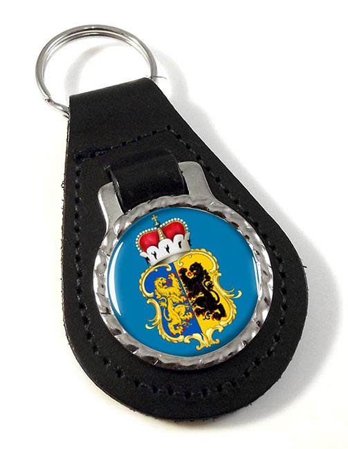 Gelderland (Netherlands) Leather Key Fob