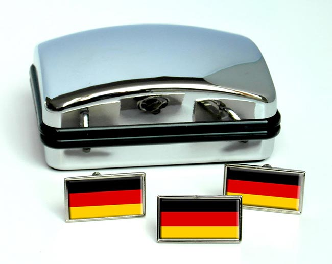 Deutschland Germany Flag Cufflink and Tie Pin Set