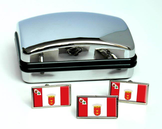 La Gomera (Spain) Flag Cufflink and Tie Pin Set