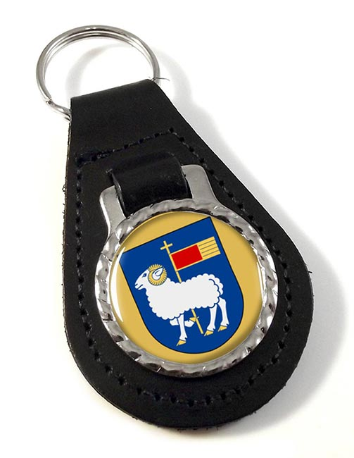 Gotland (Sweden) Leather Key Fob