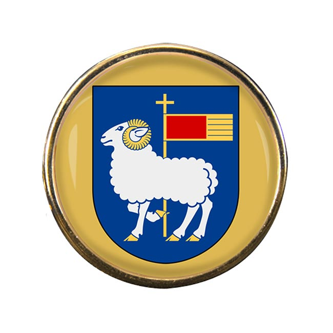 Gotland (Sweden) Round Pin Badge